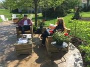 Outdoor/Indoor Wicker Conversation Set on Sale at Gooddegg
