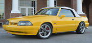 1993 Ford Mustang Yellow Feature Car