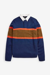 Stylish Navy Knitted Rugby Shirt For Sale