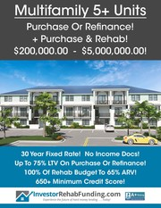 MULTIFAMILY 5+ UNITS – Purchase – Refinance – Purchase & Rehab To $5Mi